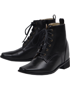 Secret lace-up short boots
