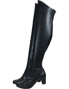 Stretch knee high boots low heel 5.5 cm