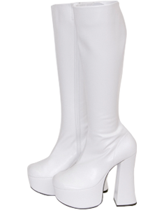 Thick bottom stretch long boots thick heel 14 cm