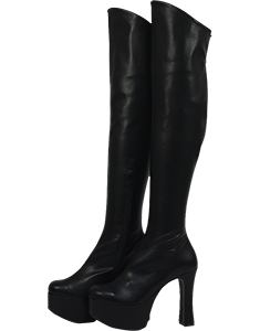 Thick bottom stretch knee high boots