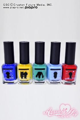 Manicure character vocal series 5 piece set