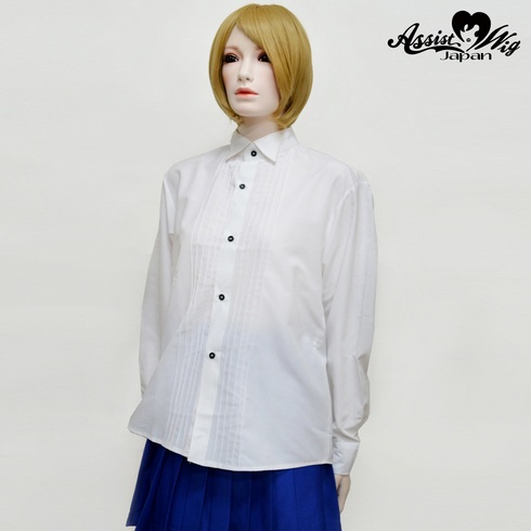 Wing shirt white (left front · long sleeve)