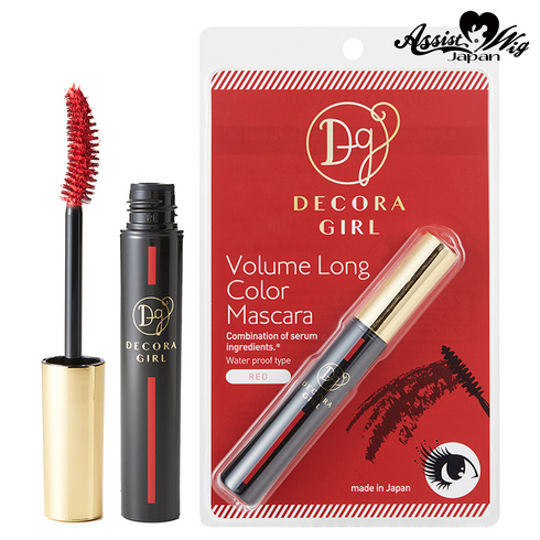Decora girl color mascara red