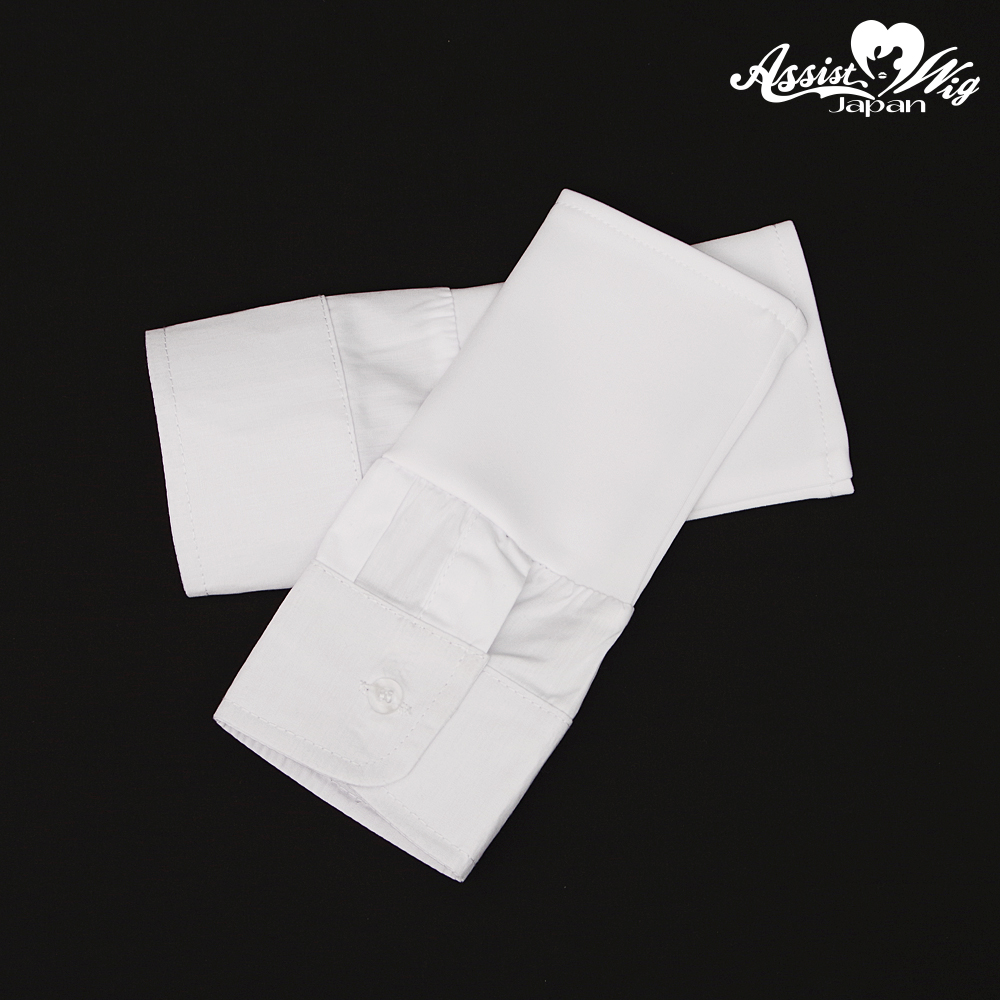 Attached sleeve white