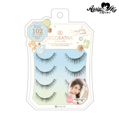False eyelashes Decorative eyelash Innocent wink No. 102