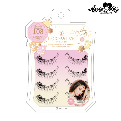 False eyelashes Decorative eyelash Feminine wink No. 103