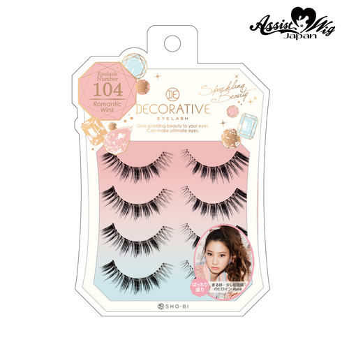 False eyelashes Decorative eyelash Romantic wink No. 104