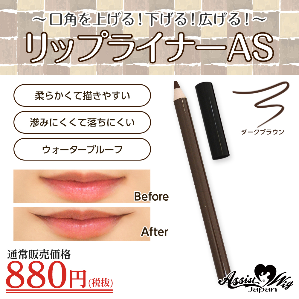 ★ Assist Original ★ Lip Liner AS (Pencil Type) Dark brown