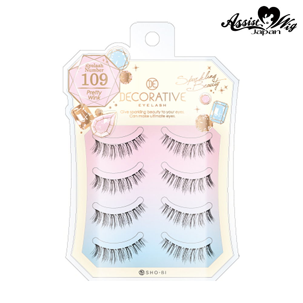 False eyelashes Decorative eyelash Pretty Wink No. 109