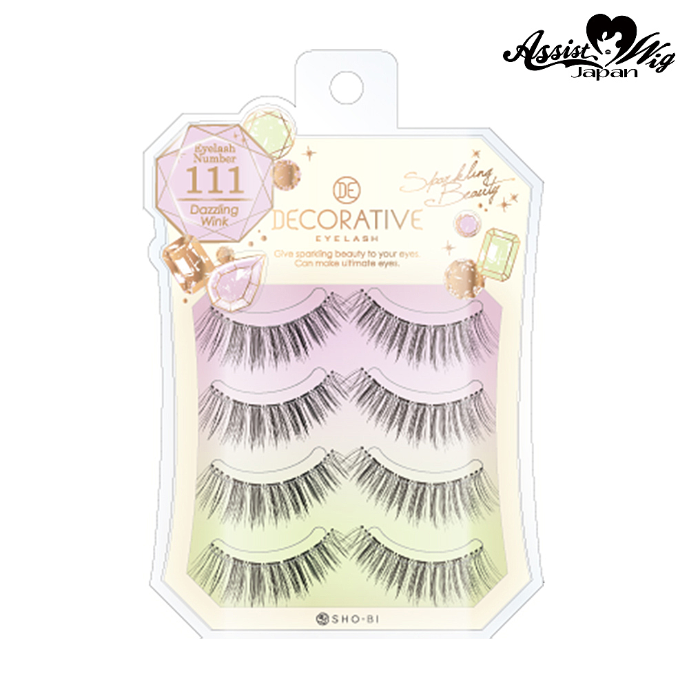 False eyelashes Decorative eyelash Dazzlin wink No. 111