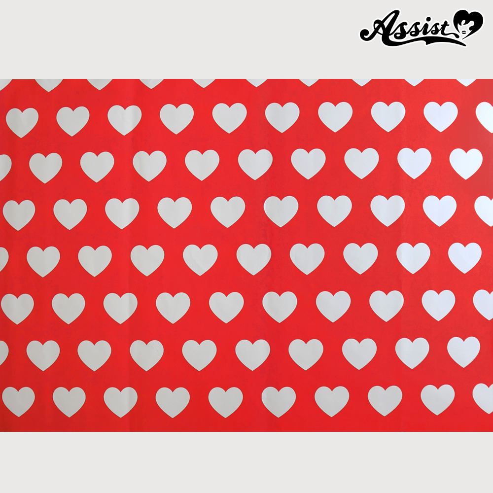 ★ Limited time sale ★ Background cloth 116 Heart pattern
