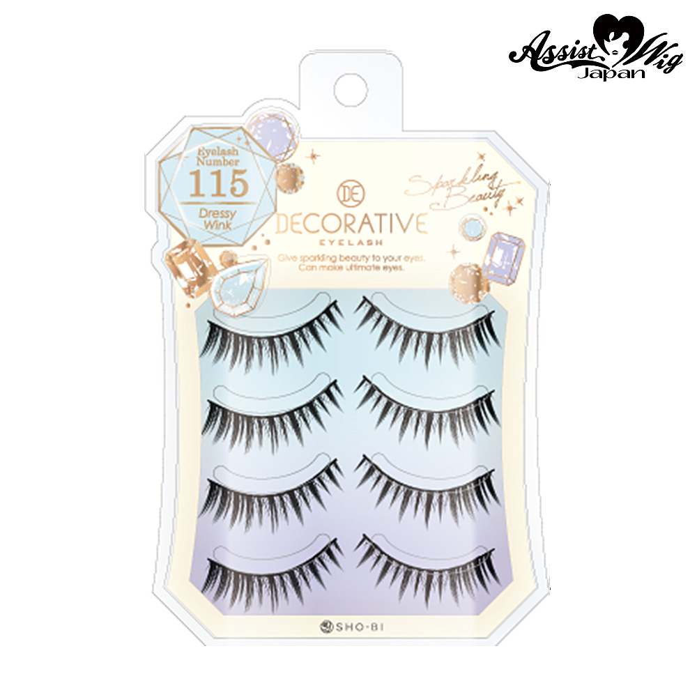 False eyelashes Decorative eyelashes Dressy wink No. 115