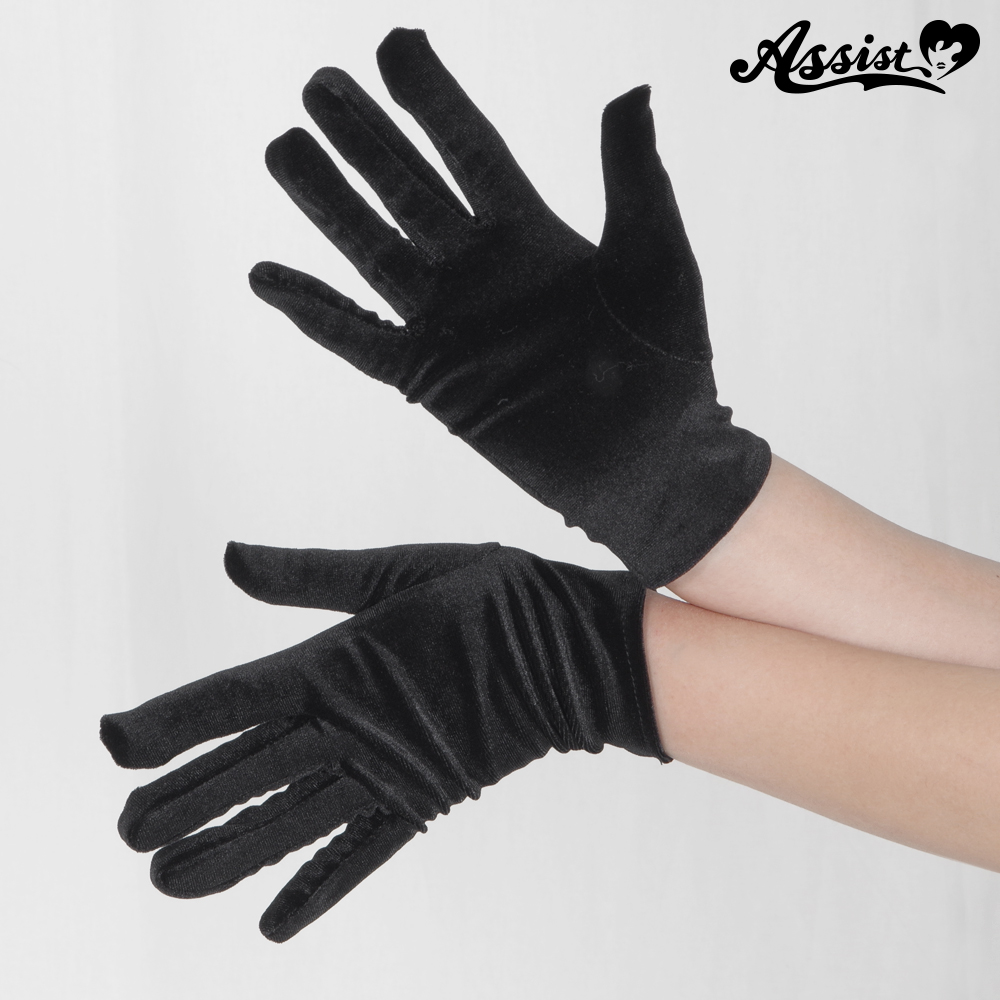 Velor gloves black