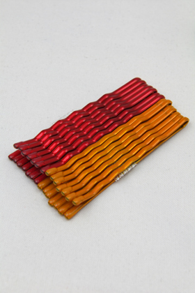 Color hairpin Metallic Red & Metallic Orange