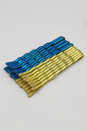 Color hairpin Metallic Blue & Gold