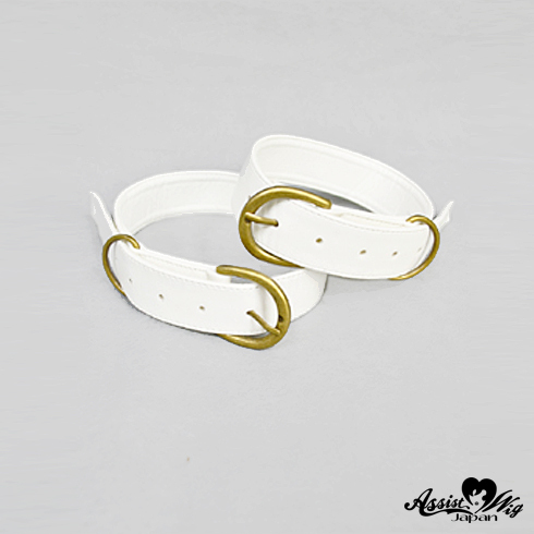 Combined boot belt 2 pieces White