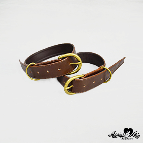 Combined boot belt 2 pieces Dark Brown