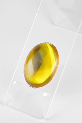 Crystal Part Oval Yellow