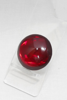 Crystal Parts Round Red