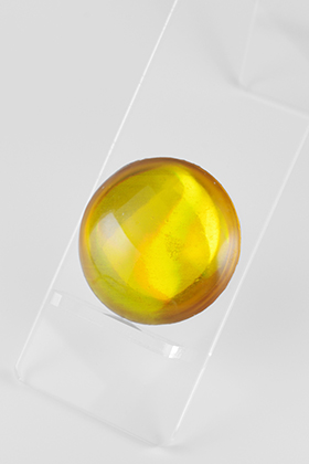 Crystal Parts Round Yellow