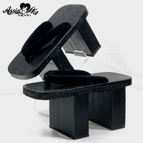 High clogs (black paint) 10.5 cm Throw Black