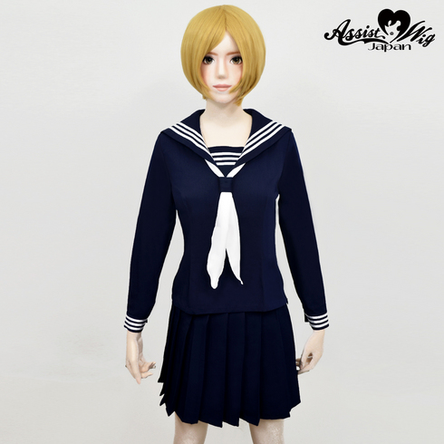 Sailor suit wear long sleeve Navy