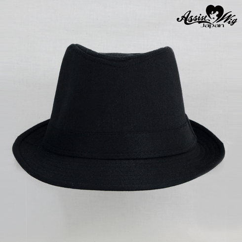 Folded hat Black