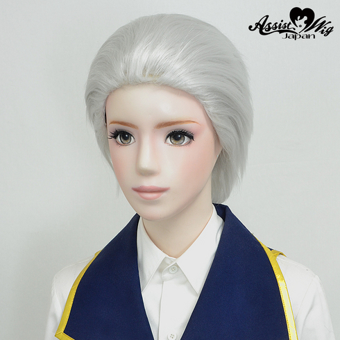 All back wig White Silver 60