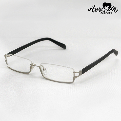 Half-frame glasses (lower type) Silver