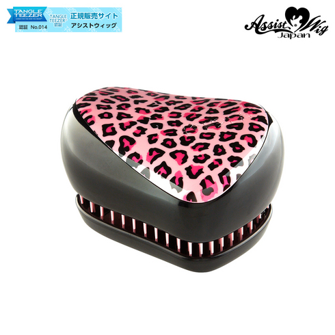 TANGLE TEEZER (Hair Care Brush) Compact Styler Pink Leopard