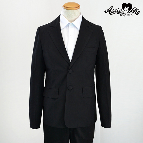 Suit fabric jacket Black