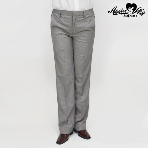 Suit fabric color trousers Light gray