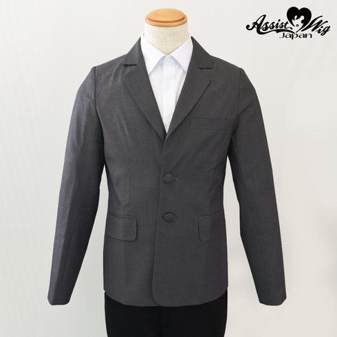 Suit fabric jacket Gray