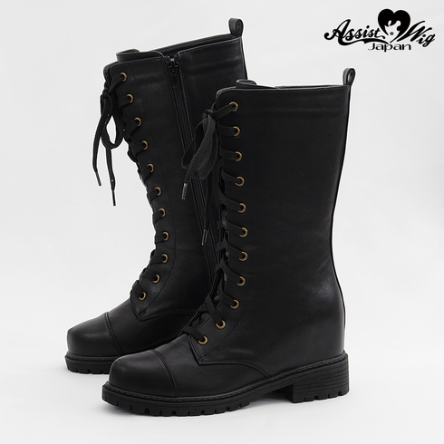 ★ Period · Limited Special Price ★ Secret Lace Up Short Boots Tank Bottom ver. Black
