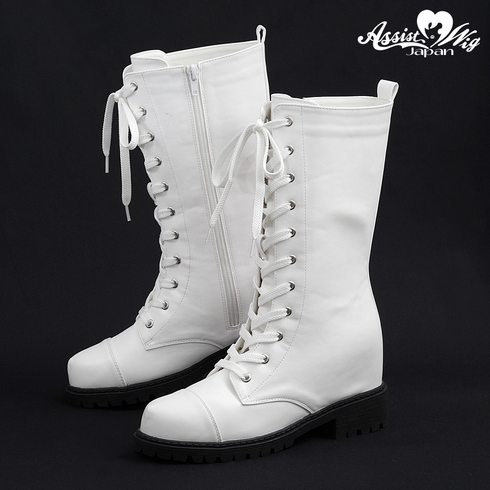 ★ Period · Limited Special Price ★ Secret Lace Up Short Boots Tank Bottom ver. White
