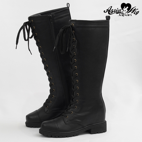 ★ Period · Limited special price ★ Secret lace up long boots tank bottom ver. Black