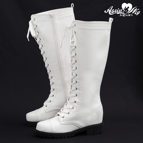 ★ Period · Limited special price ★ Secret lace up long boots tank bottom ver. White