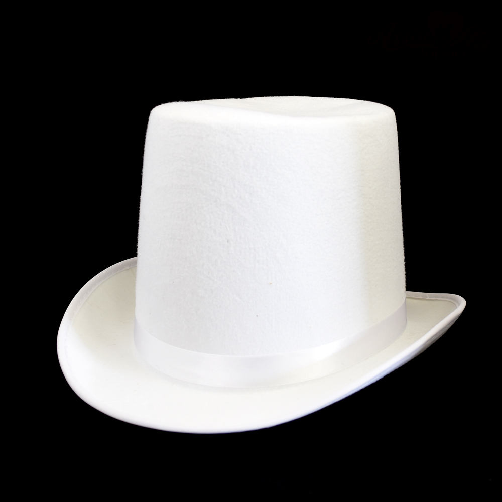 silk hat White