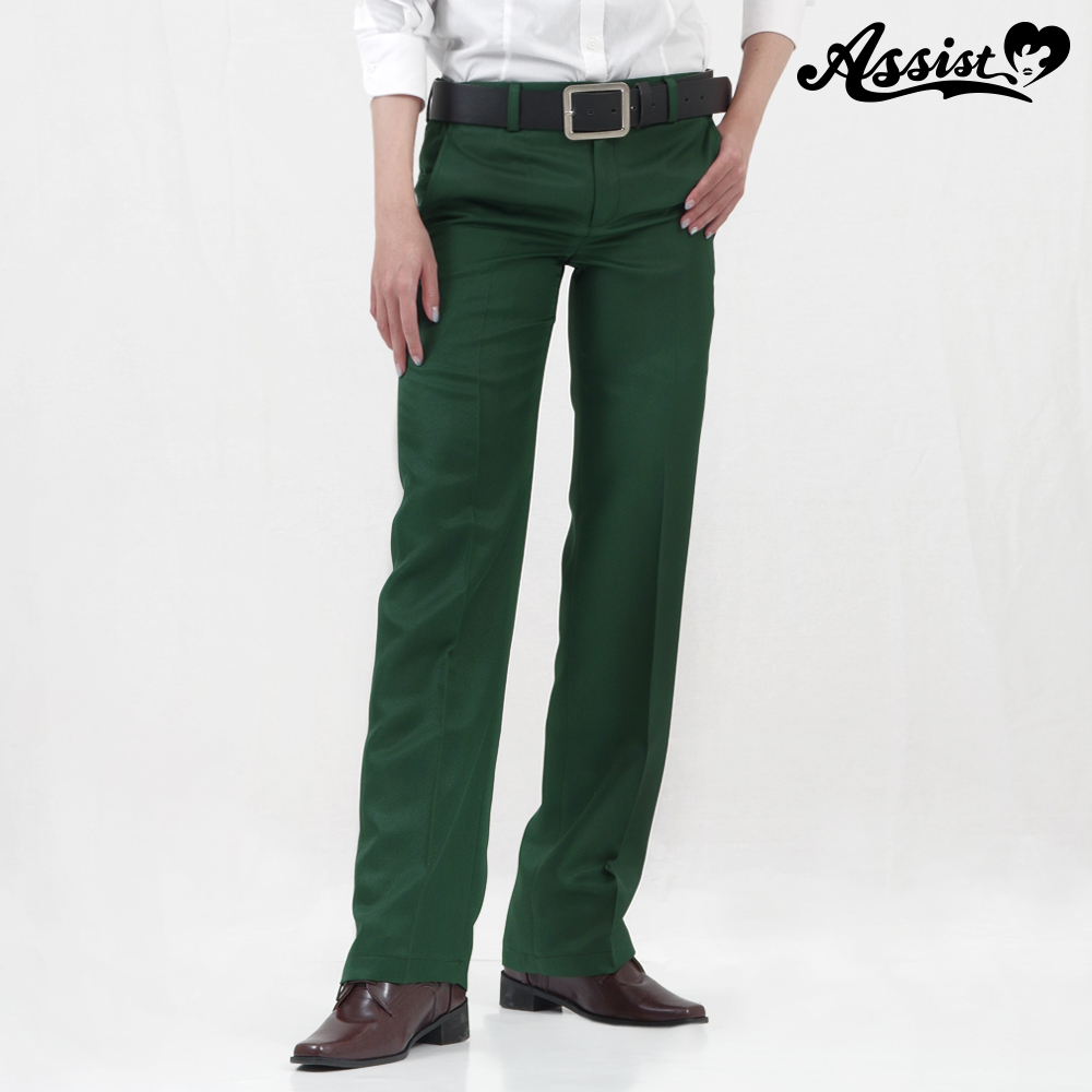 Color slacks Dark Green