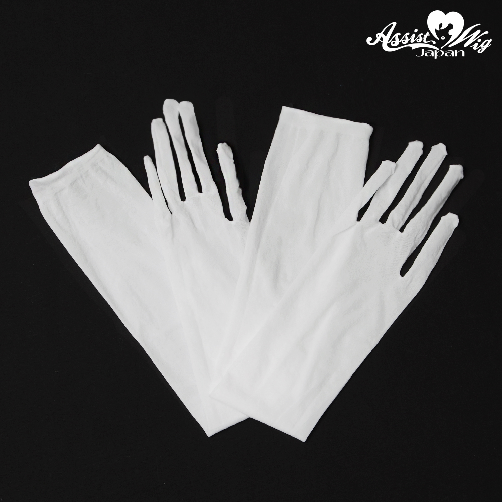 Stocking gloves White