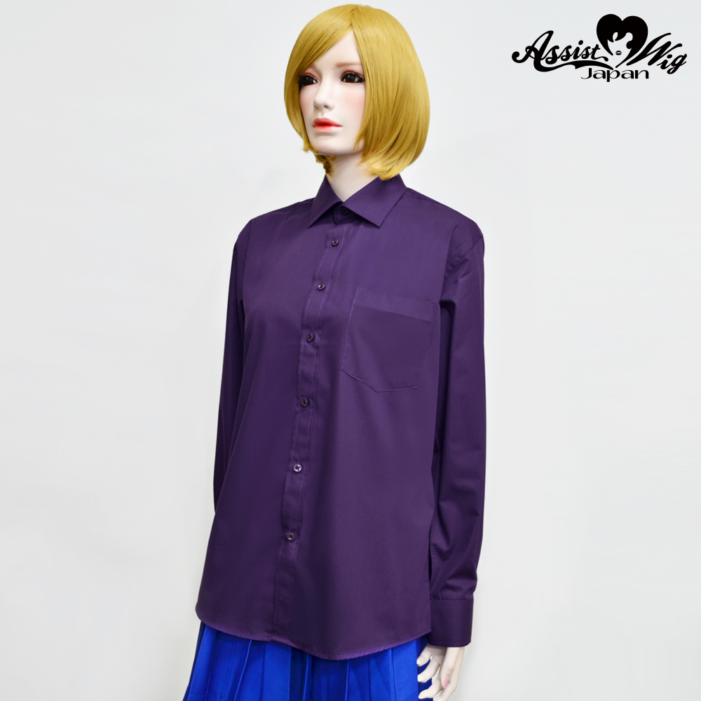 Color shirt (left front · long sleeve) purple