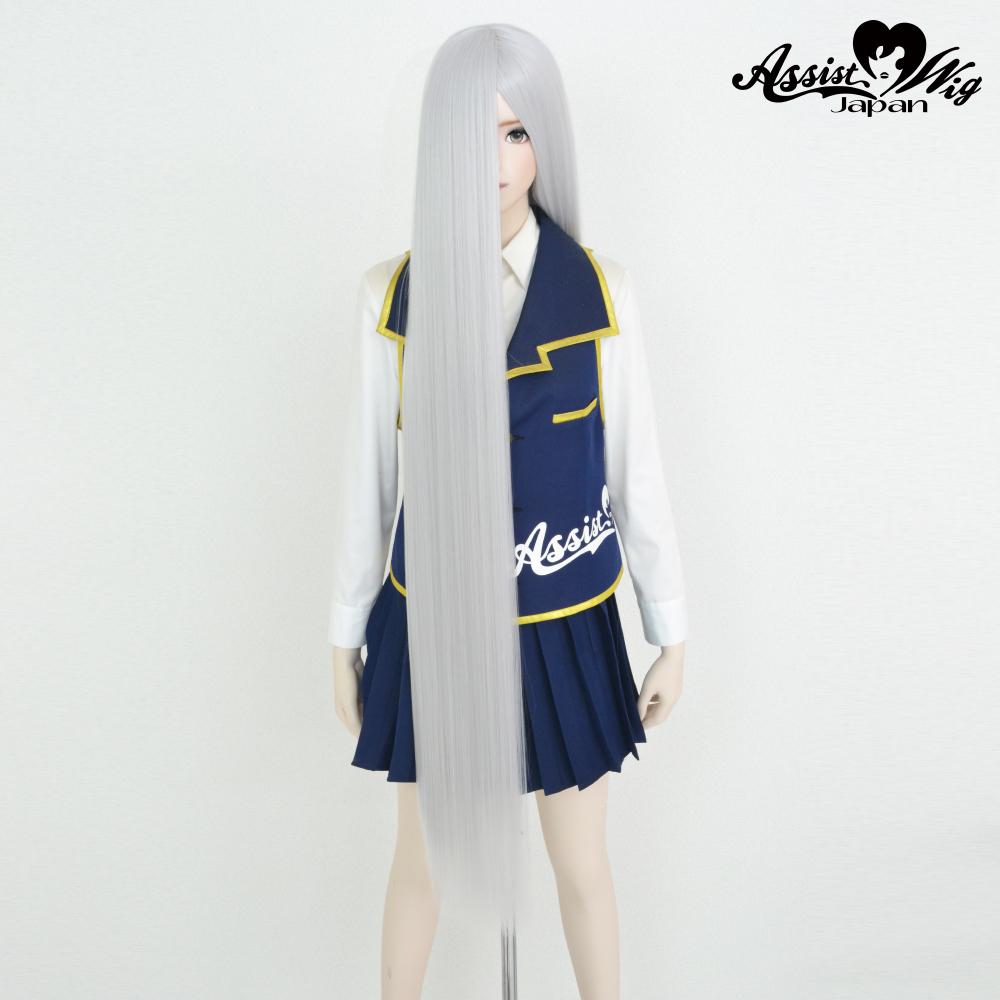 Super long base (with wig spray) White Silver 60