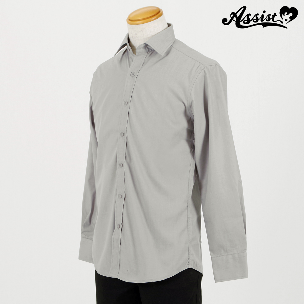 Color Shirt (Left Front / Long Sleeve) Light Gray
