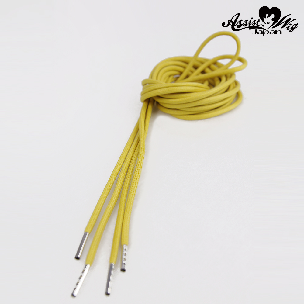 Shoelace 270 cm (round cord) Yellow