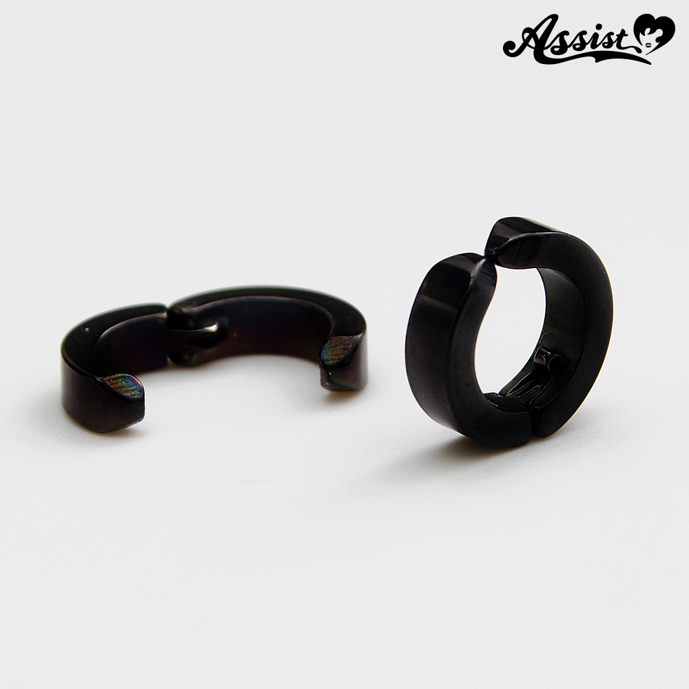 Pierced earrings Black
