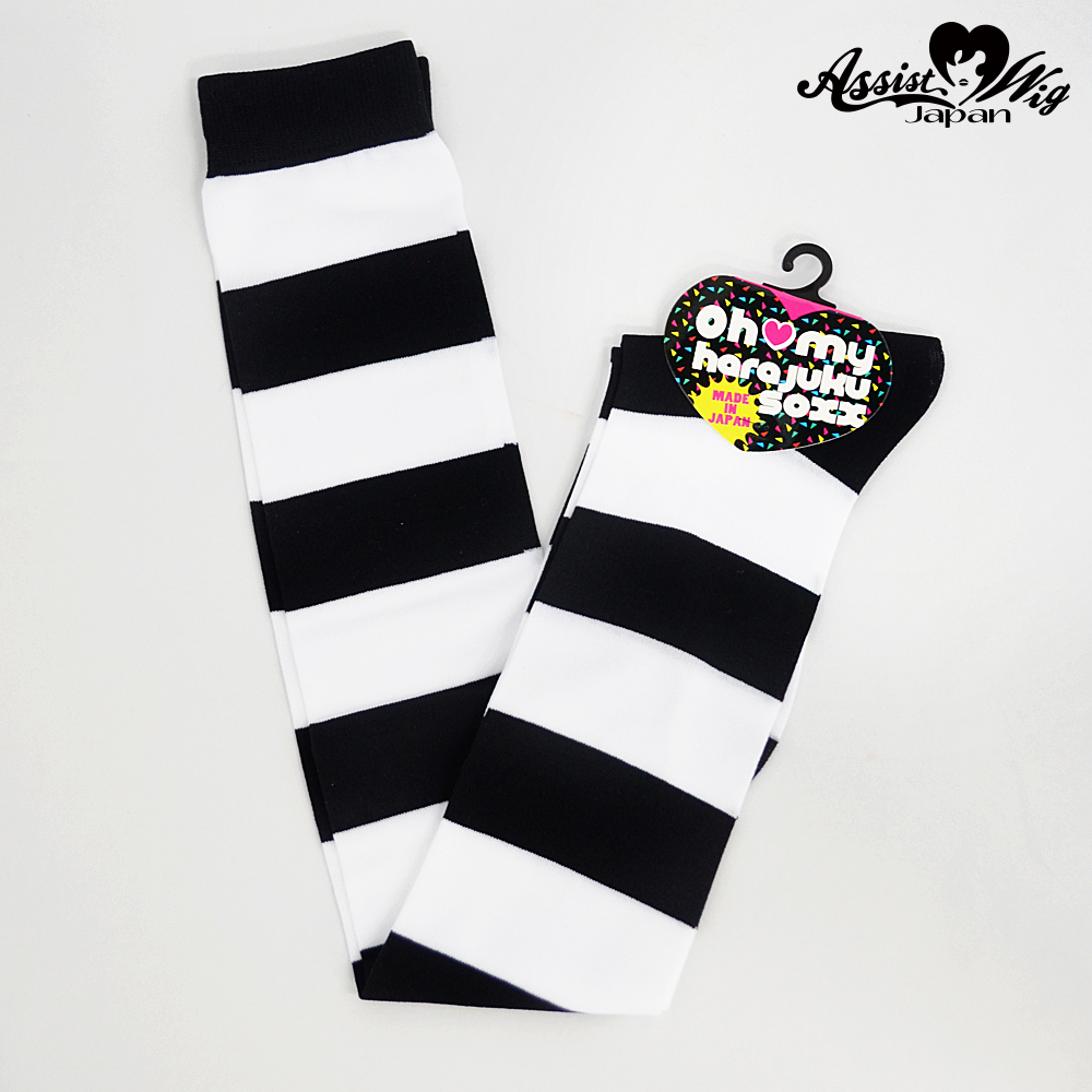 World Oversholes Socks border Black × White