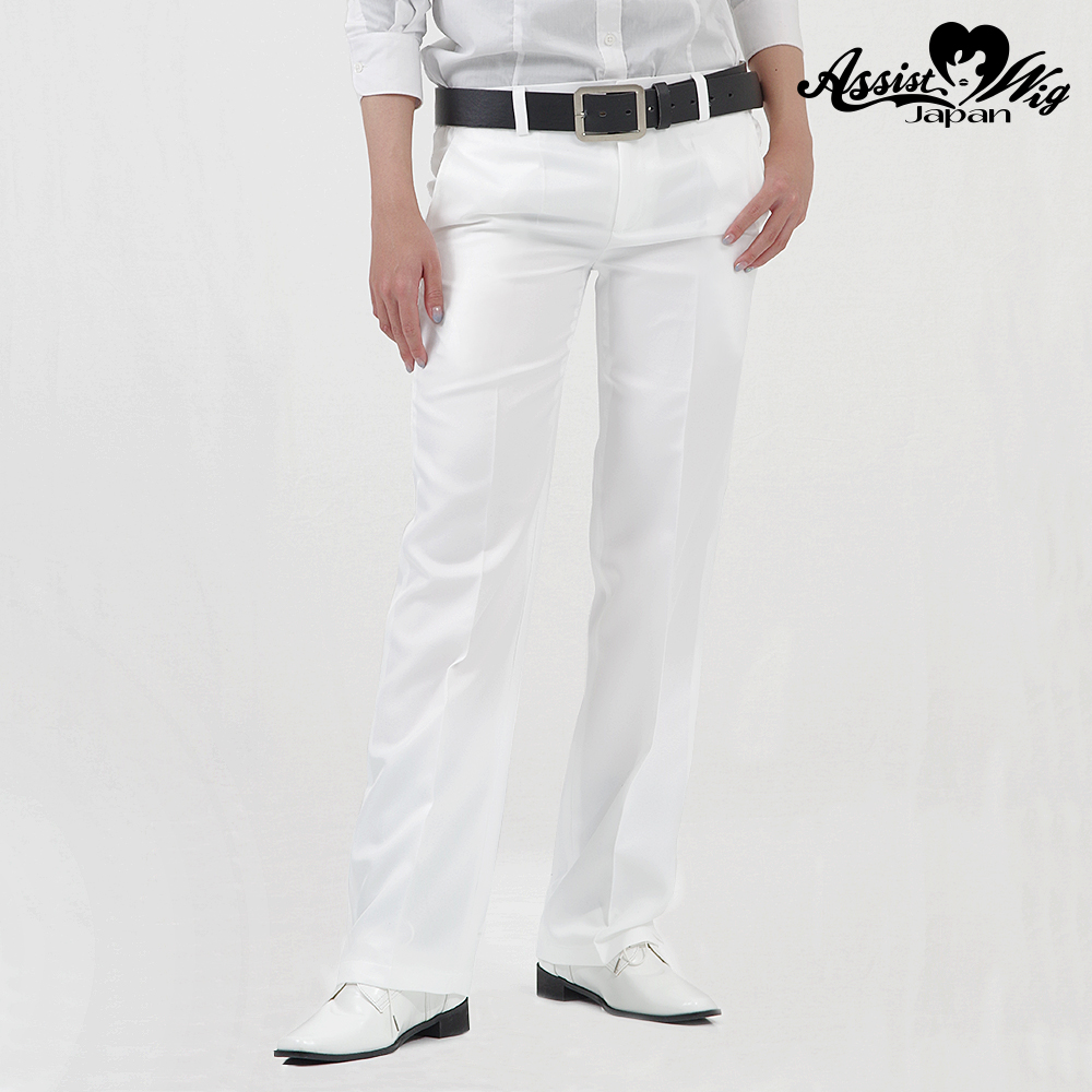 Queen size color slacks White