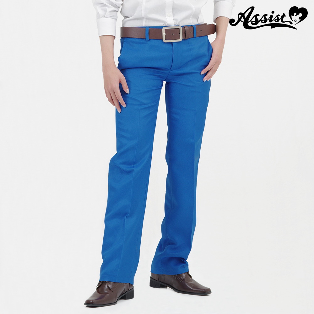 Color slacks cobalt blue