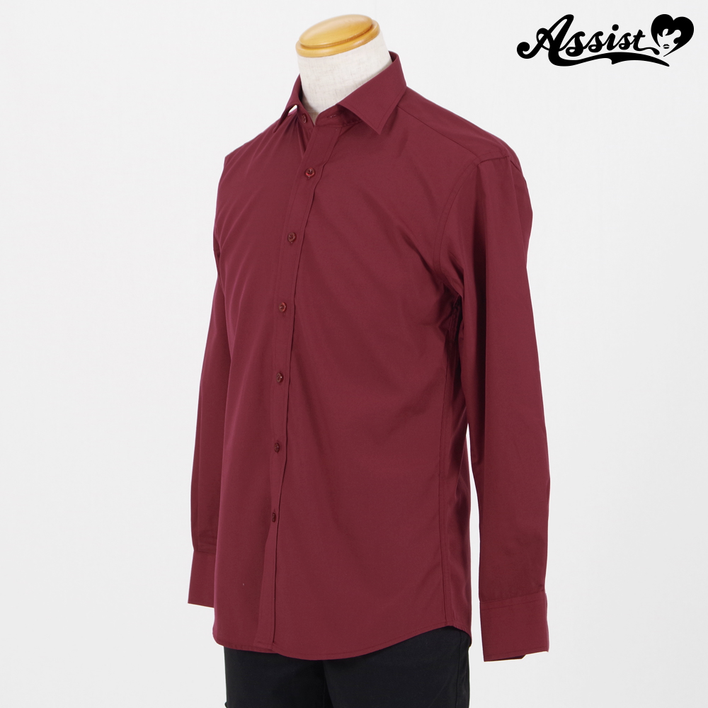 Color Shirt (Left Front / Long Sleeve) Wine Red