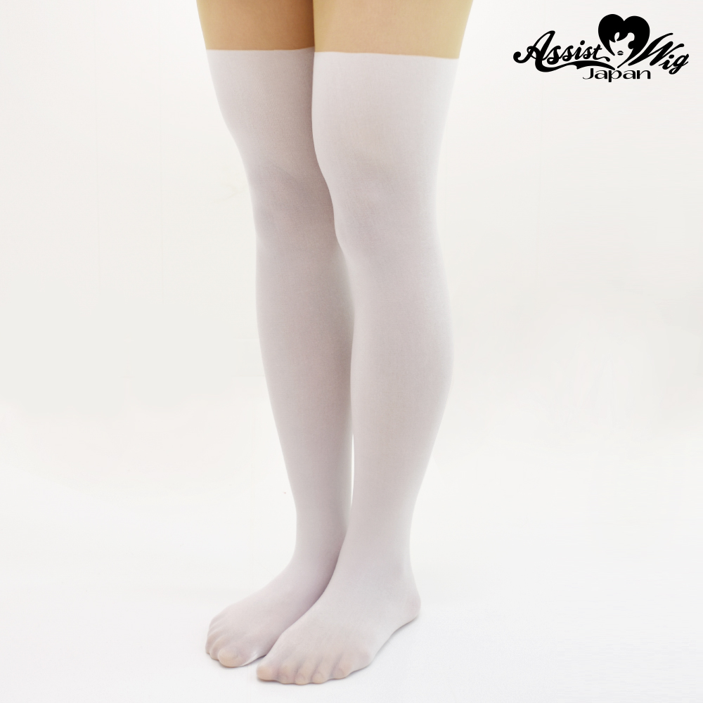 Fake knee high tights White